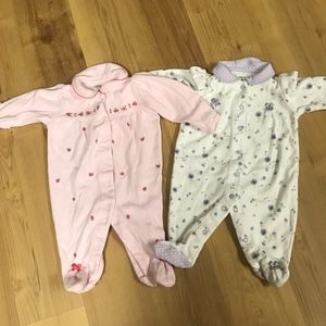 Carter's Newborn Onesies, floral patterns